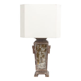 James Mont Asian Cerused Oak Lamp