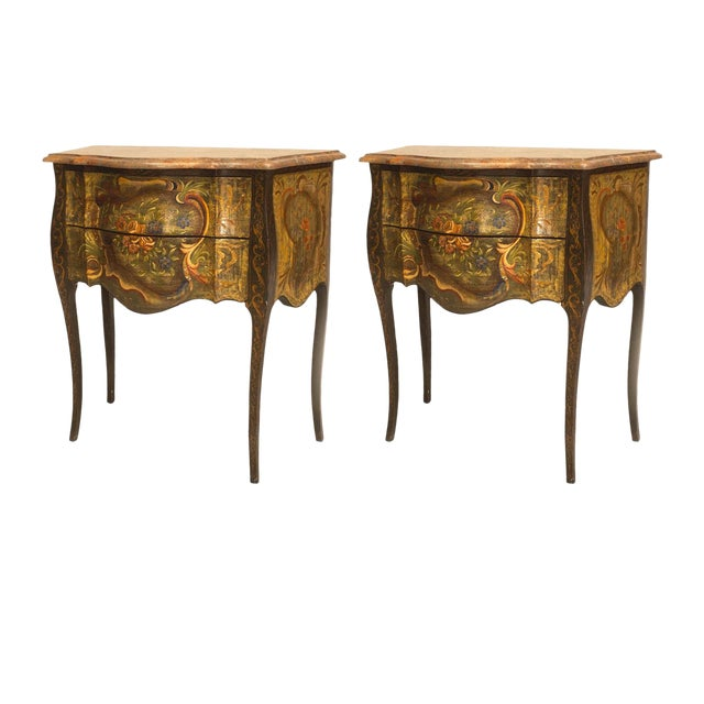 Italian Venetian '19th-20th Century' Commodes - a Pair For Sale