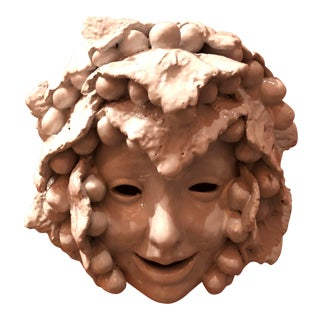 1960s Vintage Bacchus Wall Sculpture in White For Sale