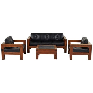 Mid-Century Modern Sofa, Chairs and Coffee Table Salon Set - 4 Pc. Set For Sale