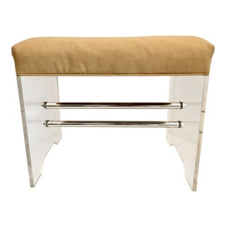 Lucite & Chrome Bench For Sale