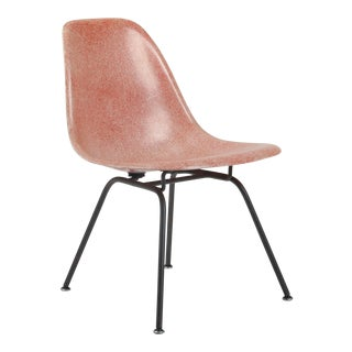 Early Herman Miller Eames Red Fiberglass DSX Side Chair For Sale