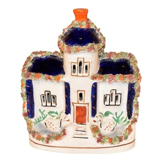 19th C Staffordshire Cottage With Swans For Sale