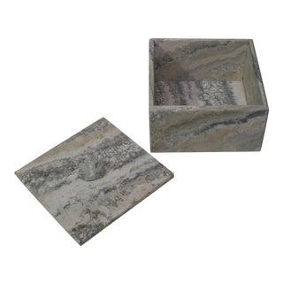 Large Onyx Box With Druzy Crystal