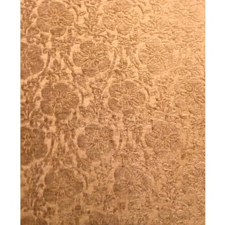 Neoclassical Gold Damask Chenille Upholstery Fabric For Sale