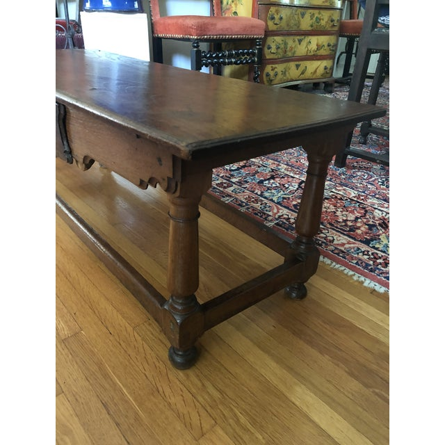 Late 18th Century Antique French Henry II Style Walnut Low Boy Coffee Table For Sale - Image 5 of 13