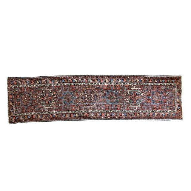"Vintage Karaja Rug Runner - 2'9"" X 10'6"" For Sale"