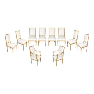 Set of Ten Louis XVI Style Dining Chairs