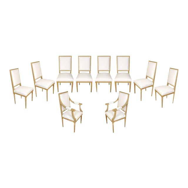Set of Ten Louis XVI Style Dining Chairs - Image 1 of 9