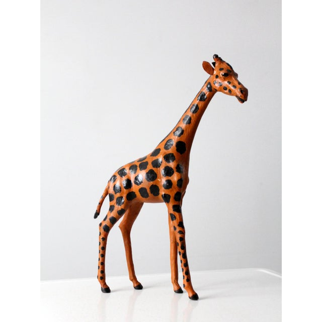 Vintage Leather Giraffe For Sale - Image 10 of 10