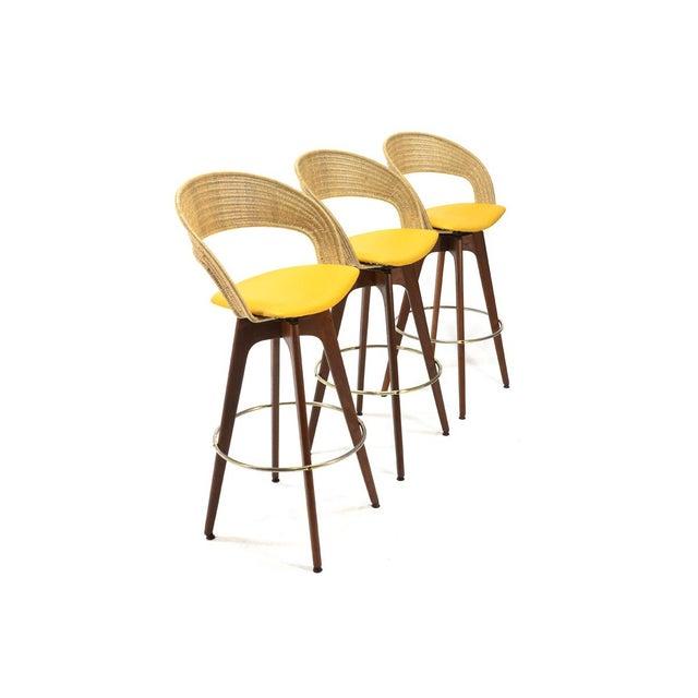 Chet Beardsley Swivel Bar Stools - Set of 3 - Image 3 of 5