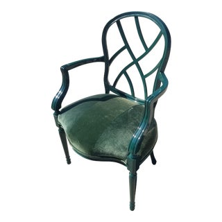 Late 20th Century Chinoiserie Style Century Furniture Armchair For Sale