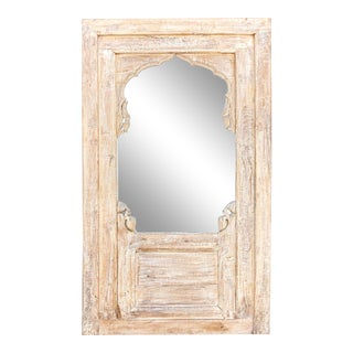 Chic Arched Whitewash Mirror For Sale