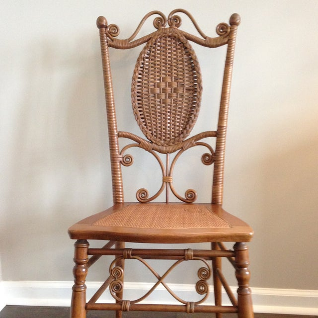Heywood Brothers Wakefield Antique Victorian Wicker and Cane Chair For Sale In Charleston - Image 6 of 9