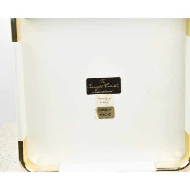 Gold Leaf Vintage White and 24k Gold Turnwald Collection Golf Ice Bucket For Sale - Image 7 of 11