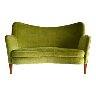 Finn Juhl Attributed Danish Settee Model 185 by Slagelse Mobelvaerk, 1940s For Sale