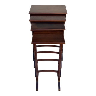 Antique Mahogany Nesting Tables - Set of 4 For Sale