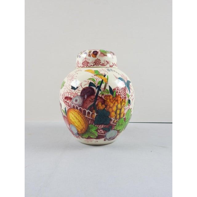 Cottage Mason's English Transferware Ginger Jar For Sale - Image 3 of 5