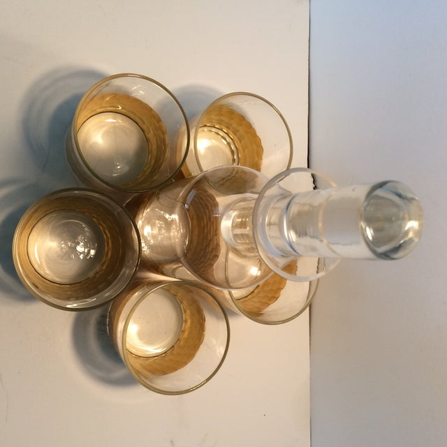 Fitz & Floyd Gold Scalloped Crystal Bourbon Set For Sale In Sacramento - Image 6 of 11
