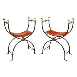 Image of Wrought Iron Side Chairs