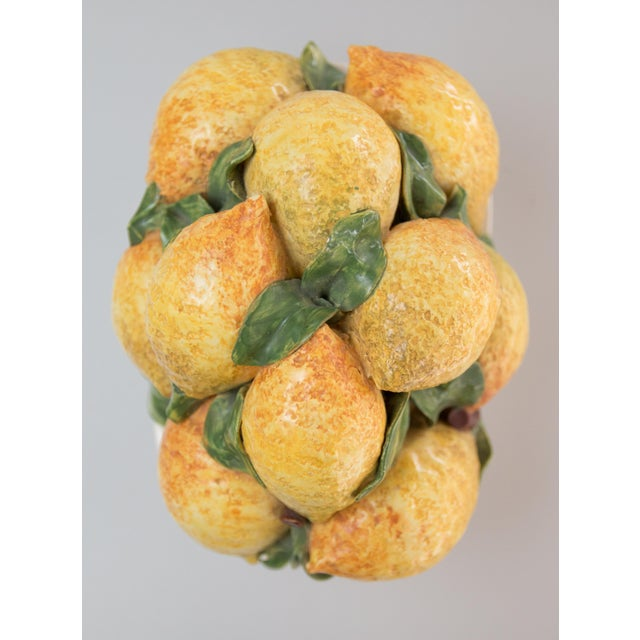 Vintage Italian Majolica Lemons Basket For Sale - Image 4 of 7
