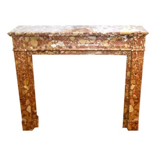 19th Century Louis XVI Breche D'alep Marble Mantel For Sale