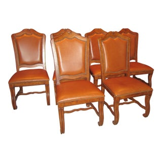 Stanley Leather Dining Chairs - Set of 6