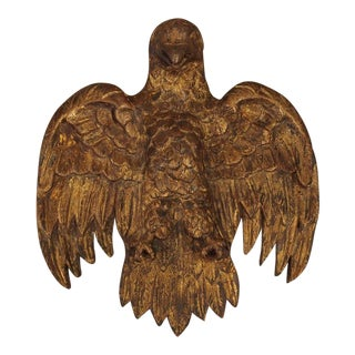 18th Century Antique Spanish Carved Giltwood Eagle For Sale