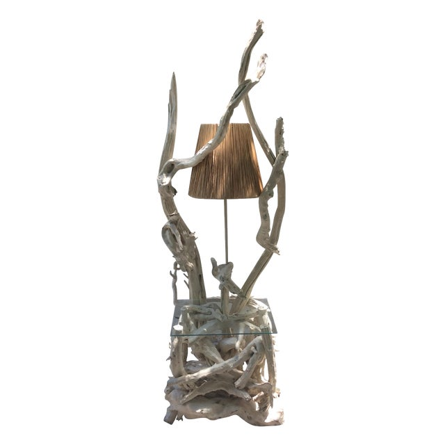 Mid Century Modern Driftwood Sculptural Table Lamp - Image 1 of 8