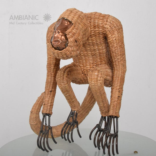 Mario Lopez Torres Wicker Monkey Sculpture - Image 2 of 10