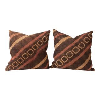 African Raffia Tie Dye Pillows - A Pair