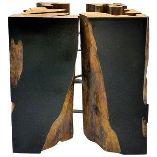 Brazilian Reclaimed Guranta Table Wood Base by Valeria Totti For Sale