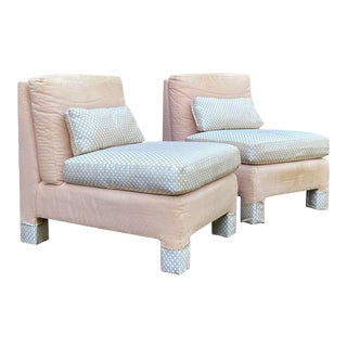 Lee Industries Slipper Chairs - a Pair For Sale