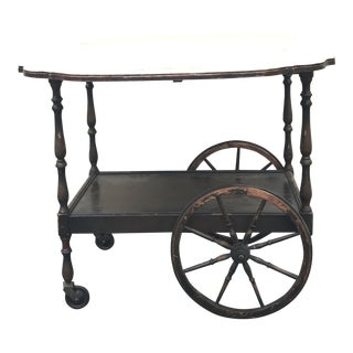 20th Century English Traditional Tea Cart With Collapsible Sides