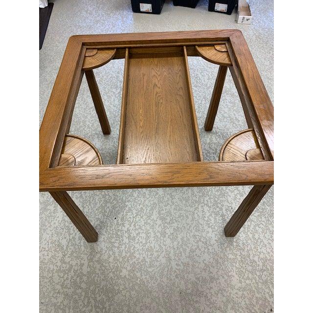 Wood Vintage Brandt Ranch Ranch Oak Gaming Table For Sale - Image 7 of 8