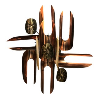 Mid Century Copper Wall Sculpture