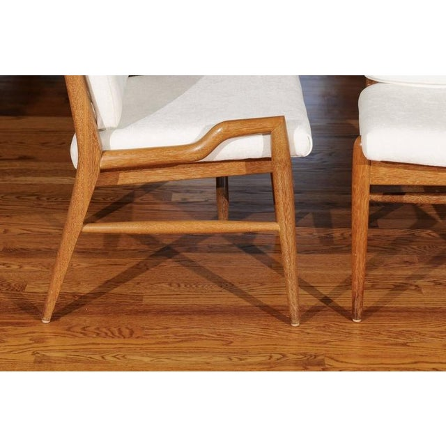 Chic Restored Set of Eight Cerused Mahogany Dining Chairs by John Keal For Sale - Image 9 of 11
