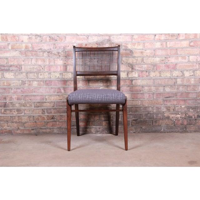 John Van Koert Mid-Century Modern Restored Walnut Dining Chairs, Set of Ten For Sale In South Bend - Image 6 of 13