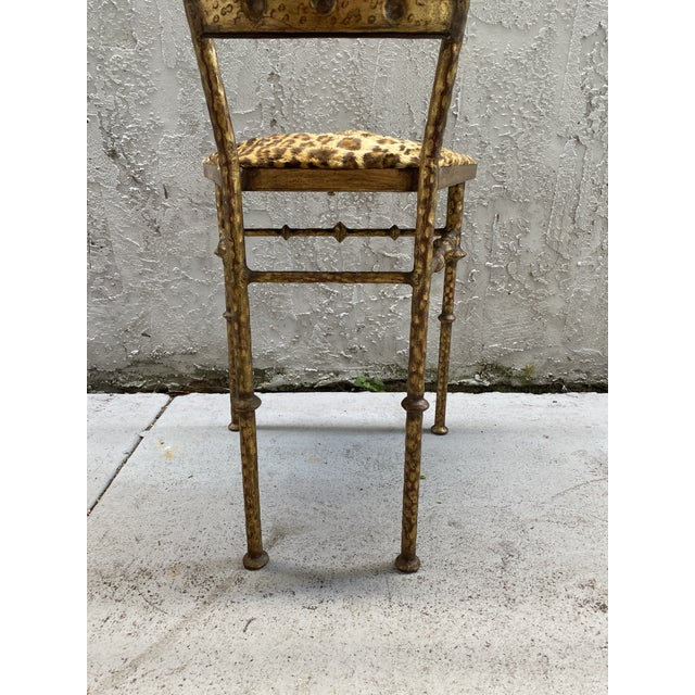 Gold Cheetah Print Giacometti Style Chairs - a Pair For Sale In Miami - Image 6 of 11