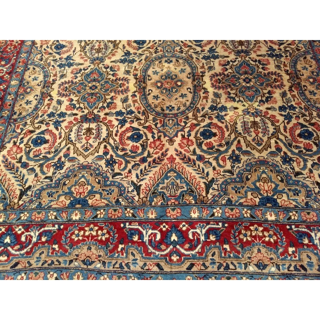 Antique Yazd Persian Carpet - 6′6″ × 9′7″ For Sale In Chicago - Image 6 of 10