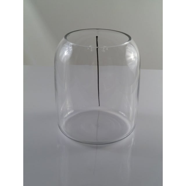 Large Barbini Clear Murano Glass Vase Indented with Black Stripe For Sale - Image 10 of 12