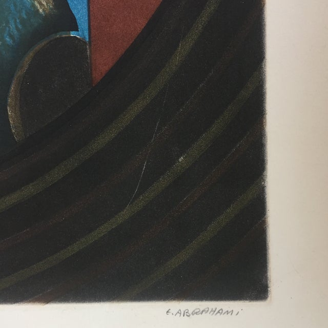 Vintage Eli's Abrahami Original Lithograph For Sale - Image 4 of 7