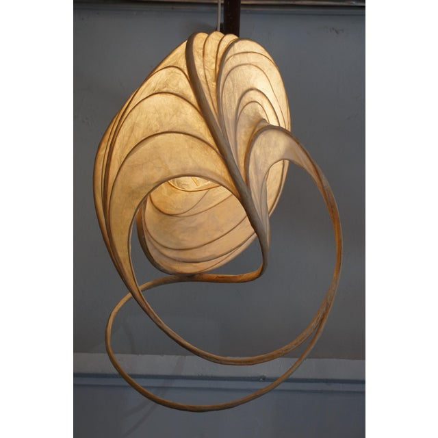 Wood 1980s William Leslie Pendant Lamp For Sale - Image 7 of 7