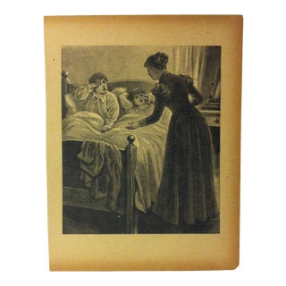 "Antique Grand Union Tea Company Print, ""Tomorrow Morning"", 1913 For Sale"