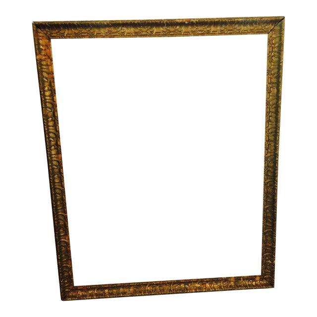 Over-Sized Large Vintage Gold Tone Carved Wood & Gesso Frame - Image 1 of 10