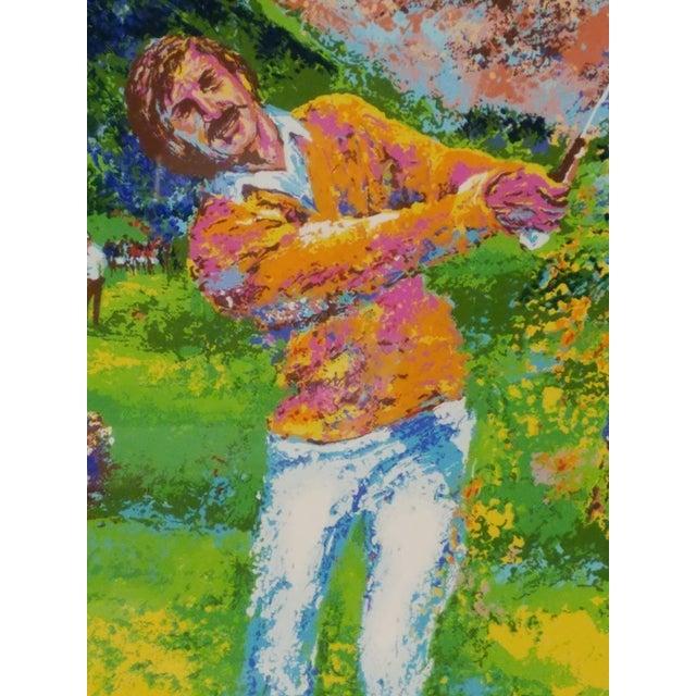 Mid-Century Modern 1970 Palm Beach Golf Classic, Fine Art Serigraph Silkscreen, Leroy Neiman Style by Mark King For Sale - Image 3 of 6