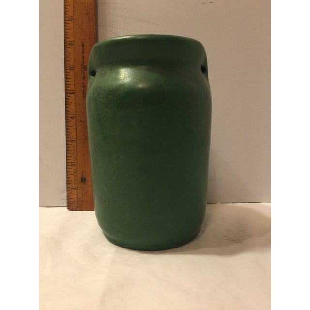 Green Mission Arts & Crafts Green Art Pottery Vase For Sale - Image 8 of 8