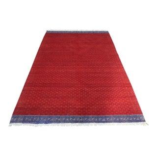 Mid 20th Century Anatolian Turkish KilimWool Floor Rug- 6′5″ × 9′ For Sale