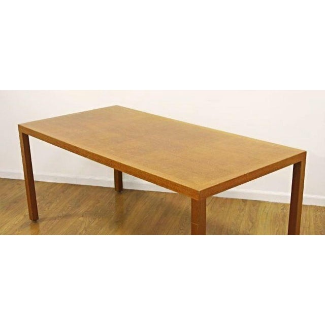 Mid-Century Modern Silky Oak Writing Desk For Sale - Image 3 of 6