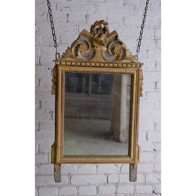 Wood Louis XVI Mirror, 18th Century For Sale - Image 7 of 9